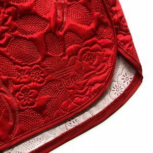adidas Shorts - Adidas Originals red embossed shorts